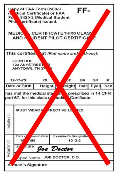 Medical certificate | Flight Training the Fast and Easy Way